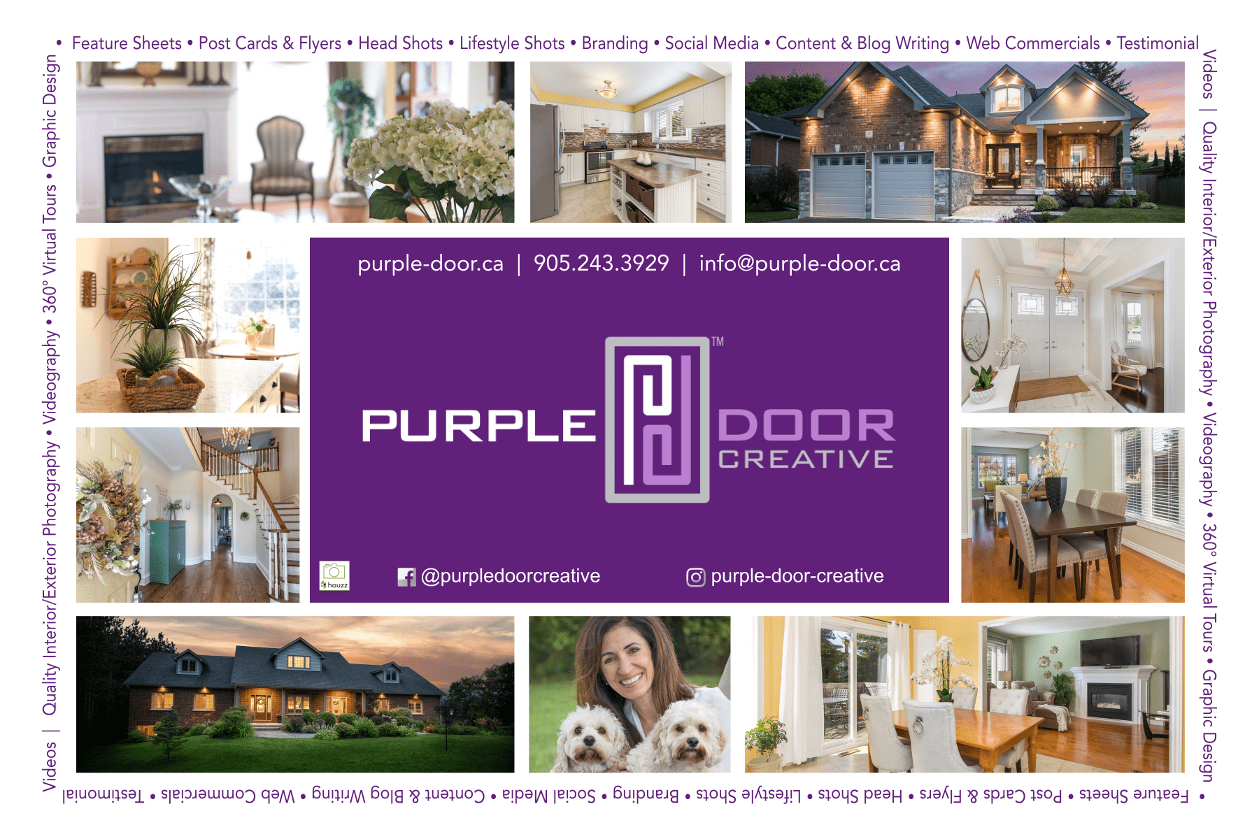 Purple Door Creative Postcard